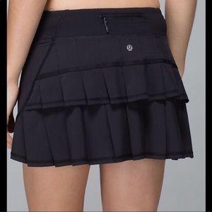 Lululemon Pacesetter Running Skirt Sz 6 Tall Black